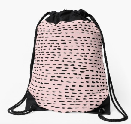 pink dots backpack by Shoshannah Scribbles