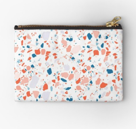 terrazzo blue pouch RB