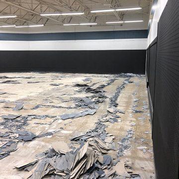 tile removal services concrete floor