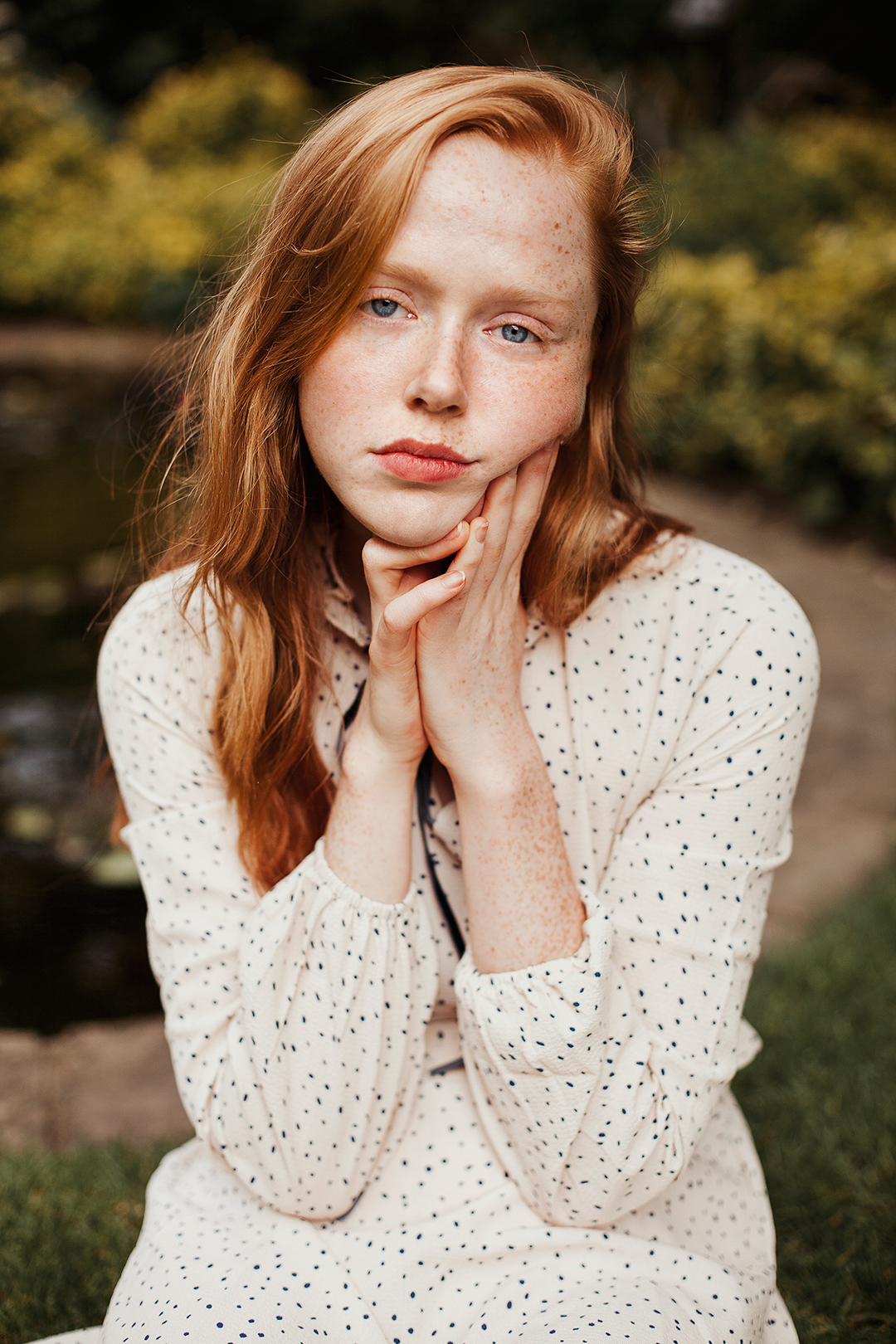 Freckled portrait of Holly Rebecca White by Ailera Stone