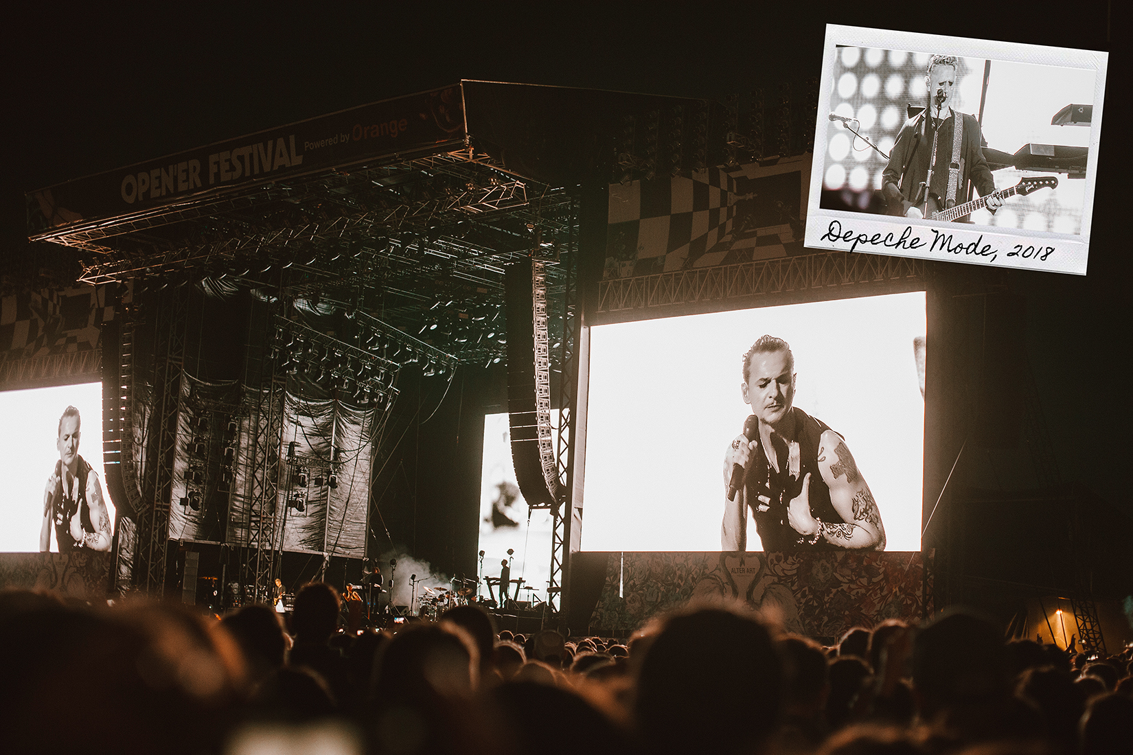 Depeche Mode live in Open'er festival 2018 by Ailera Stone