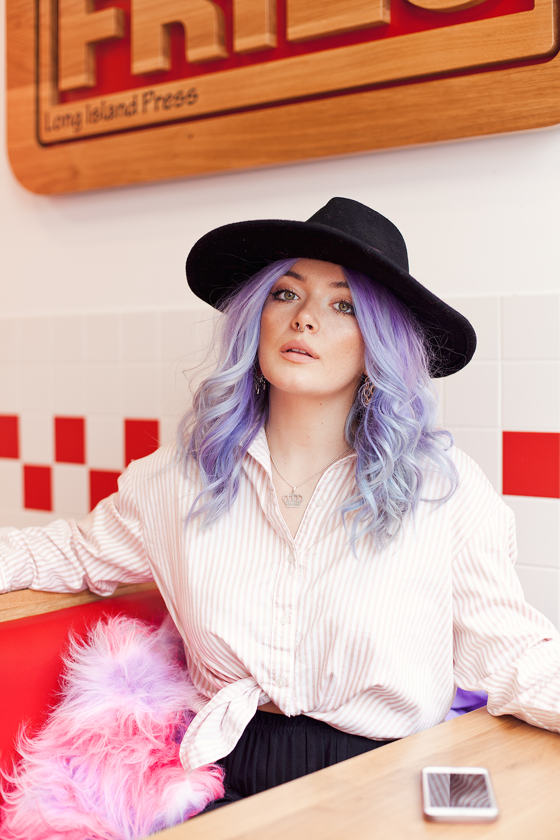Blogger Georgie Philippa pastel hair portrait by Ailera Stone