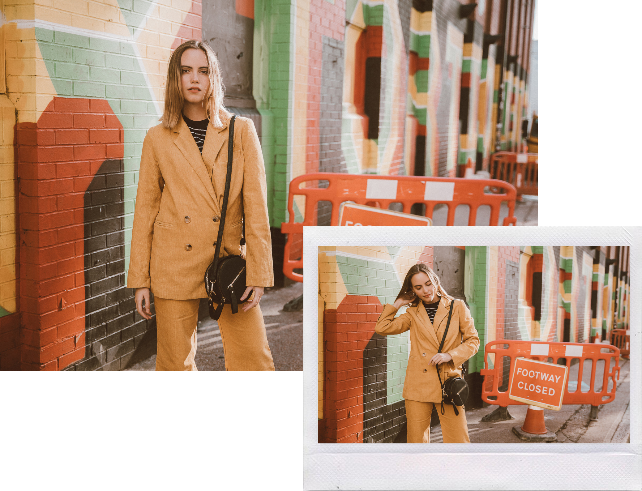 colorful Shoreditch setting - Sugar + Style lookbook Autumn 2018 shot by photographer Ailera Stone