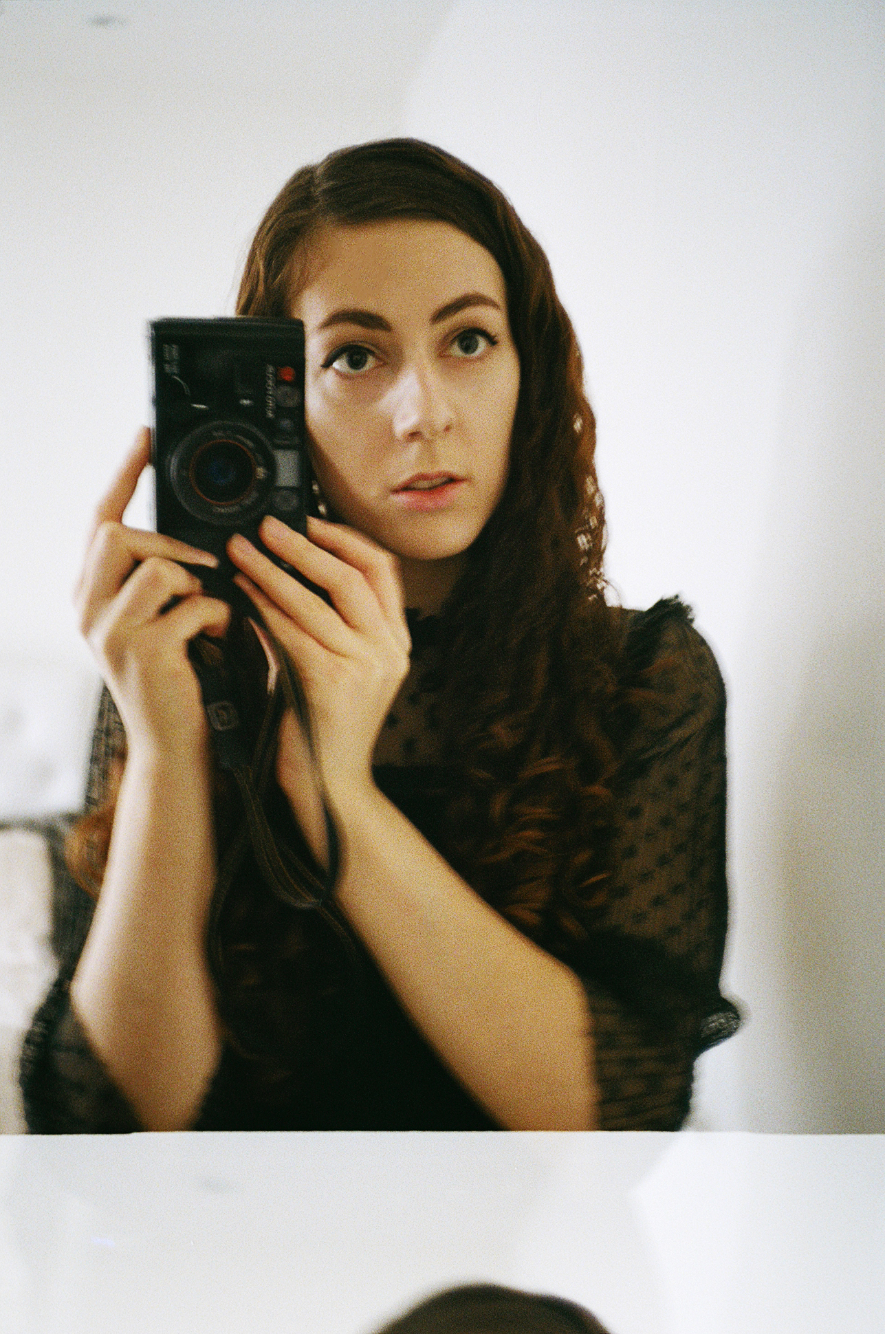 35mm film self-portrait by Lithuanian photographer Ailera Stone