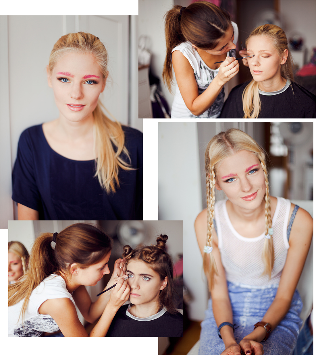 Fashion photoshoot behind the scenes make up application by London based photographer Ailera Stone.