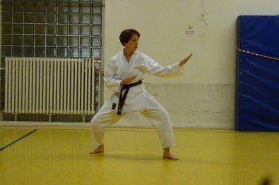Alexa bei der Prüfung zum 2. Kyu
