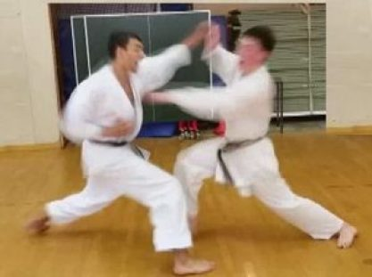 shotokan karate kumite exercise
