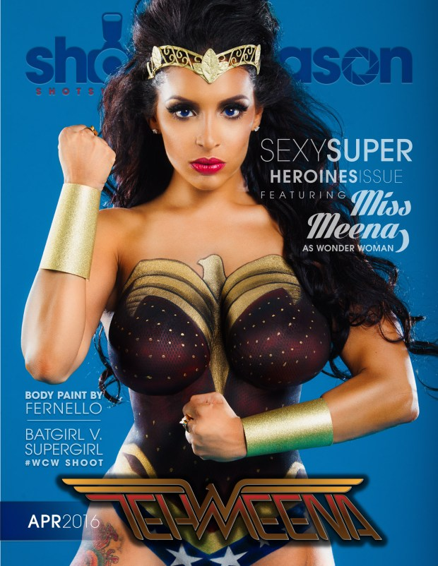 Tehmeena Afzal Wonder Woman Cover