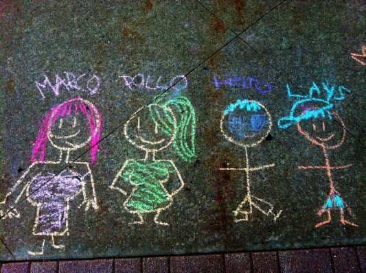 The four little friends, #streetart by kids #iphoneography #photography #kids