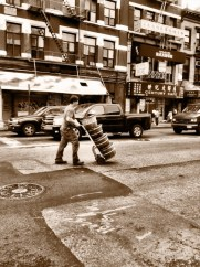 While I push my load around, the world can wait #iphoneography #photography #NYC #Chinatown