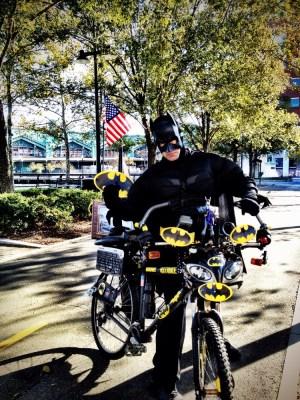 Batman goes green, look at his all new Eco friendly bat mobile #iphoneography #photography #batman #hoboken