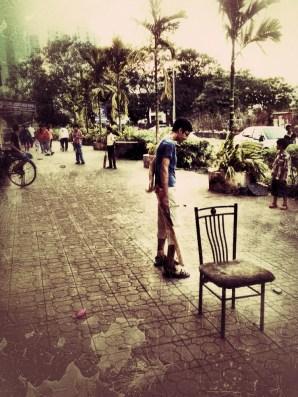 The street cricket