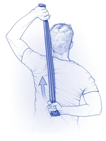 Stretching in internal rotation