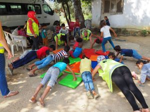 refugee kids gymnastics