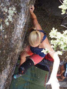 Bafa Golu Bouldering hold slip