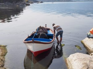 Boat trip lake bafa