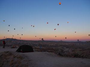 Rose valley hot air balloons