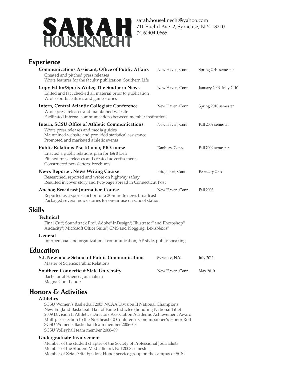 sample cover letter public affairs