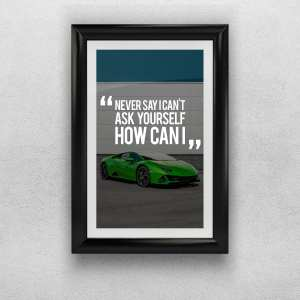 Luxury Lifestyle A3 Print – Ask yourself quote