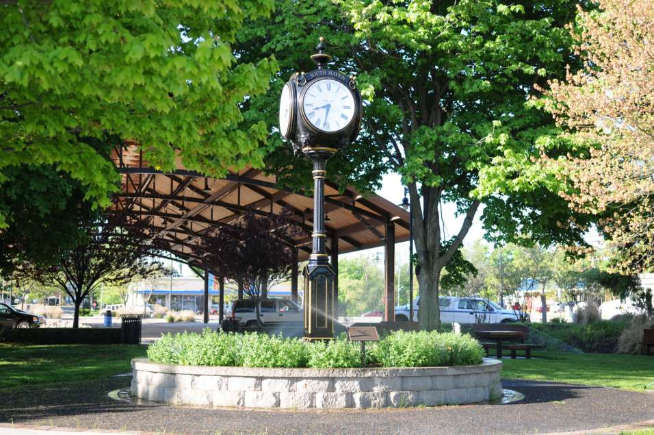 Downtown clock at the pavillion