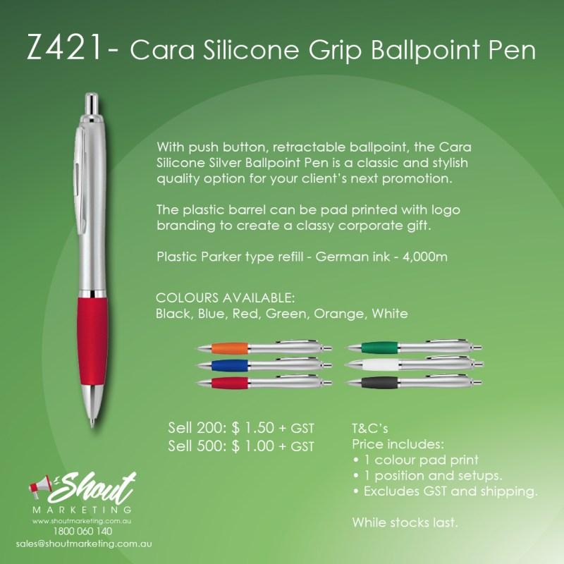 cara silicone grip ballpoint pen