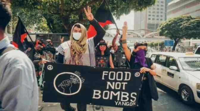 100% Three Fingers In The Air Punk Rock: 25 Bands Raise Funds For Myanmar's Food Not Bombs