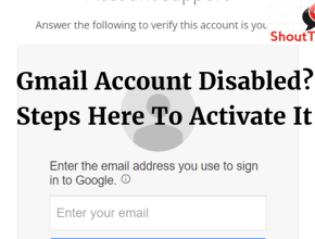 Gmail account disabled
