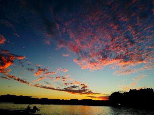 奄美大島南部・古仁屋の夕焼け