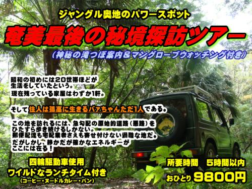 奄美昭和荘のパワースポットツアー