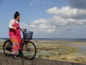 昭和荘レンタルサイクルで海へ行く