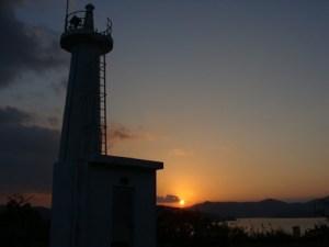 奄美大島・夕暮時の瀬戸崎灯台