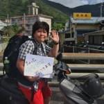 昭和荘バイクで加計呂麻島に行く旅人