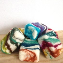 locally made soaps + locally sourced wool
