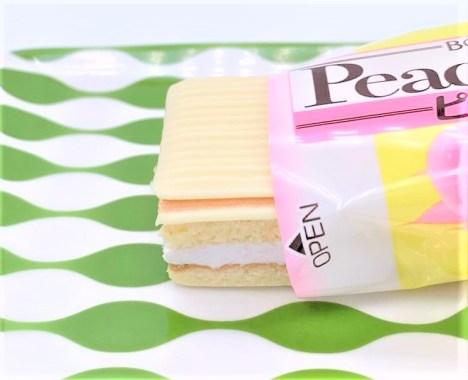 ブルボン ピーチブラン 桃のケーキ 2020 japanese-snacks-bourbon-peach-blanc-peach-cake-2020