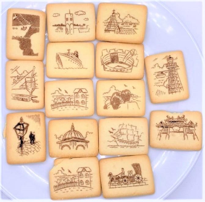 宝製菓 横浜ロマンスケッチ 絵柄付き サンドビスケット 平成菓子 2020  japanese-snacks-takaraseika-yokohama-romansketch-sandwich-cookies-2020
