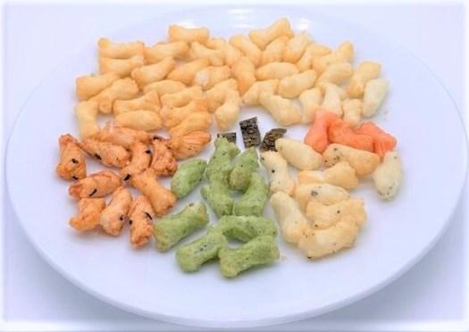 越後製菓 サラダセブン 米菓 あられ 小袋 お菓子 2020 japanese-snacks-echigoseika-salad-seven-variety-pack-of-rice-crackers-2020
