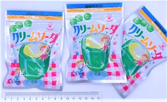 UHA味覚糖 クリームソーダ キャンディポーシュ 小袋 懐かしいお菓子 2020 japanese-nostalgia-candy-uha-mikakuto-melon-soda-float-flavored-hardcandy-2020
