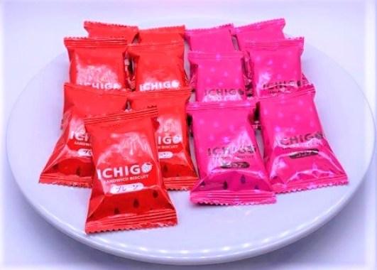 宝製菓 いちごクリームサンド サンドイッチ ビスケット 袋 お菓子 2021 japanese-snacks-takaraseika-ichigo-cream-sandwich-biscuits-2021