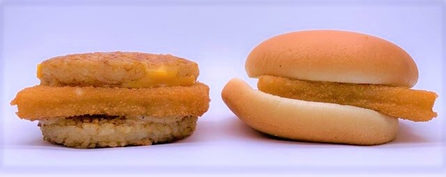 マクドナルド ごはんフィッシュ 和風黒胡椒 ごはんバーガー テイクアウト 2021 japanese-mcdonalds-gohan-filet-o-fish-rice-burger-2021