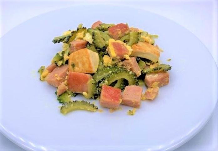 沖縄ホーメル 減塩スパム 25%レスソルト 缶詰 ゴーヤーチャンプルー 2021 canned-food-okinawa-hormel-spam-less-sodium-luncheon-meat-homemade-dinner-13-2021