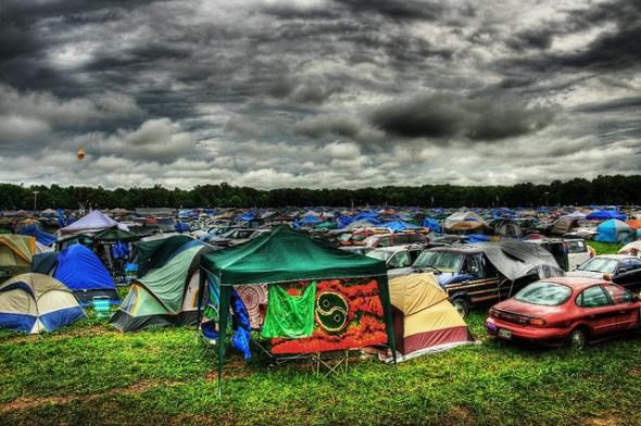 Music festivals - camping