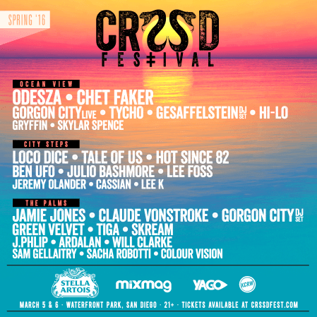 CRSSD Festival - Spring 2016 lineup