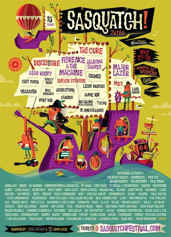 Sasquatch! Music Festival - 2016 lineup