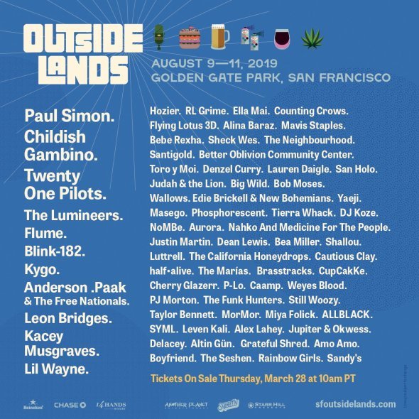 Outside Lands - 2019 lineup