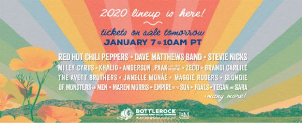 BottleRock - 2020 lineup