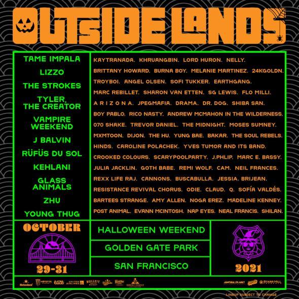 Outside Lands - 2021 lineup
