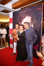 Publisher Ajay Mago with Asha Parekh and Khalid Mohamed