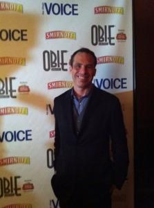 Michael J. Roberts arrives at the Obie's