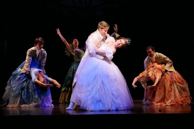 Paige Faure, Andy Jones and the Cinderella Broadway company. Photo by Carol Rosegg
