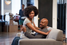 Hushabye-Rehearsal-3: McKenzie Chinn and James T. Alfred in rehearsal for Hushabye, written by Tanya Saracho and directed by ensemble member Yasen Peyankov, part of Steppenwolf Theatre Company's First Look Repertory of New Work. Featuring three developmental productions of new plays presented in rotating repertory, First Look runs July 26 – August 24, 2014 in the Garage Theatre (1624 N Halsted St).